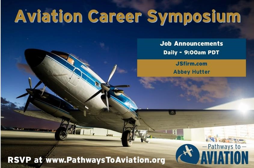 Join us at 9am PDT each day next week as our friends from @JSfirm announce hot industry jobs. https://t.co/kILbAwJeEX #aviation #aerospace #uas #pilots #mechanics #engineers #job #careers https://t.co/ypytdWhqG0