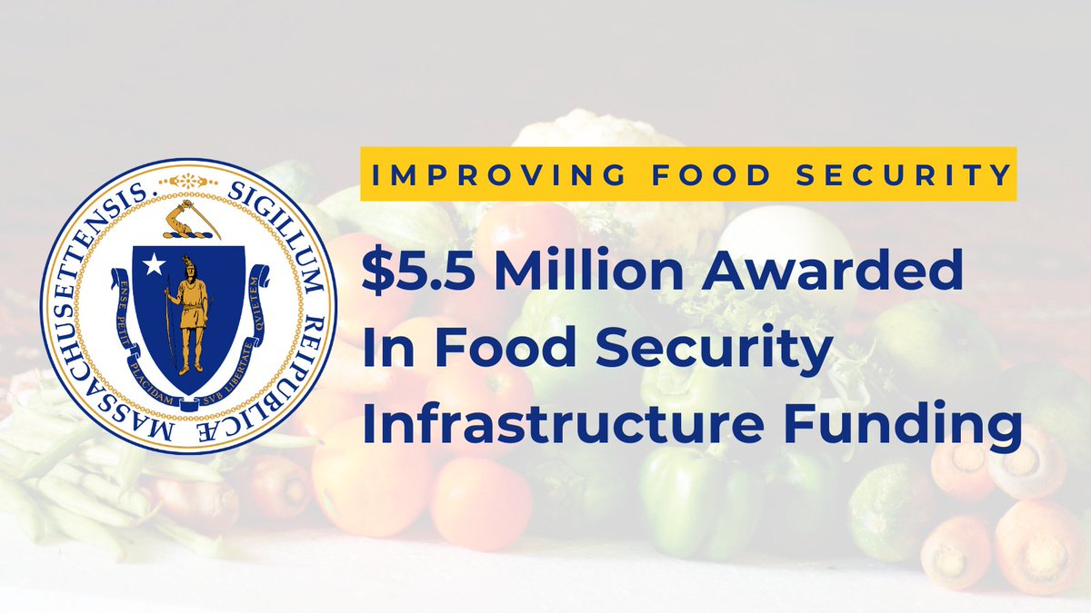 Today our administration announced over $5.5 million in grants to address food security needs for MA residents during #COVID19MA  This funding is being awarded as part of the 3rd round of our $36 million Food Security Infrastructure Grant Program.  🍎MORE: https://t.co/dKiaFxElXK https://t.co/8JWISOoVsC