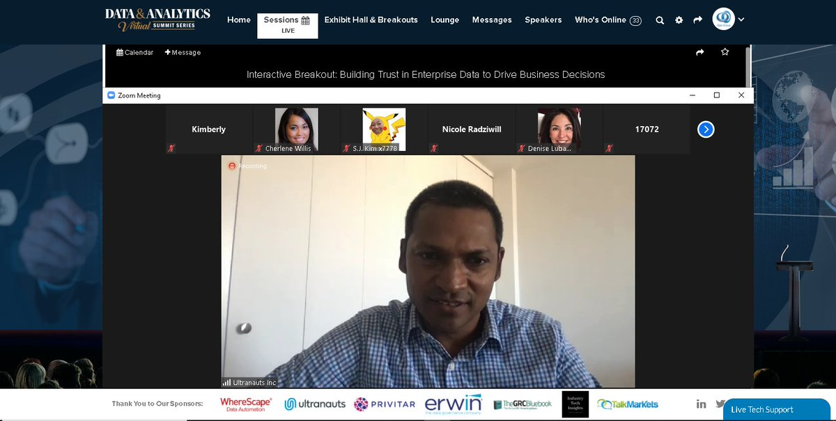 Engaging discussion by Rajesh Anandan from Ultranauts Inc on how to build trust in enterprise data to drive business decisions! #virtual #event #data #analytics #summit #series #technology #innovation #connect #network #opalgroup https://t.co/ijxJifmCIr