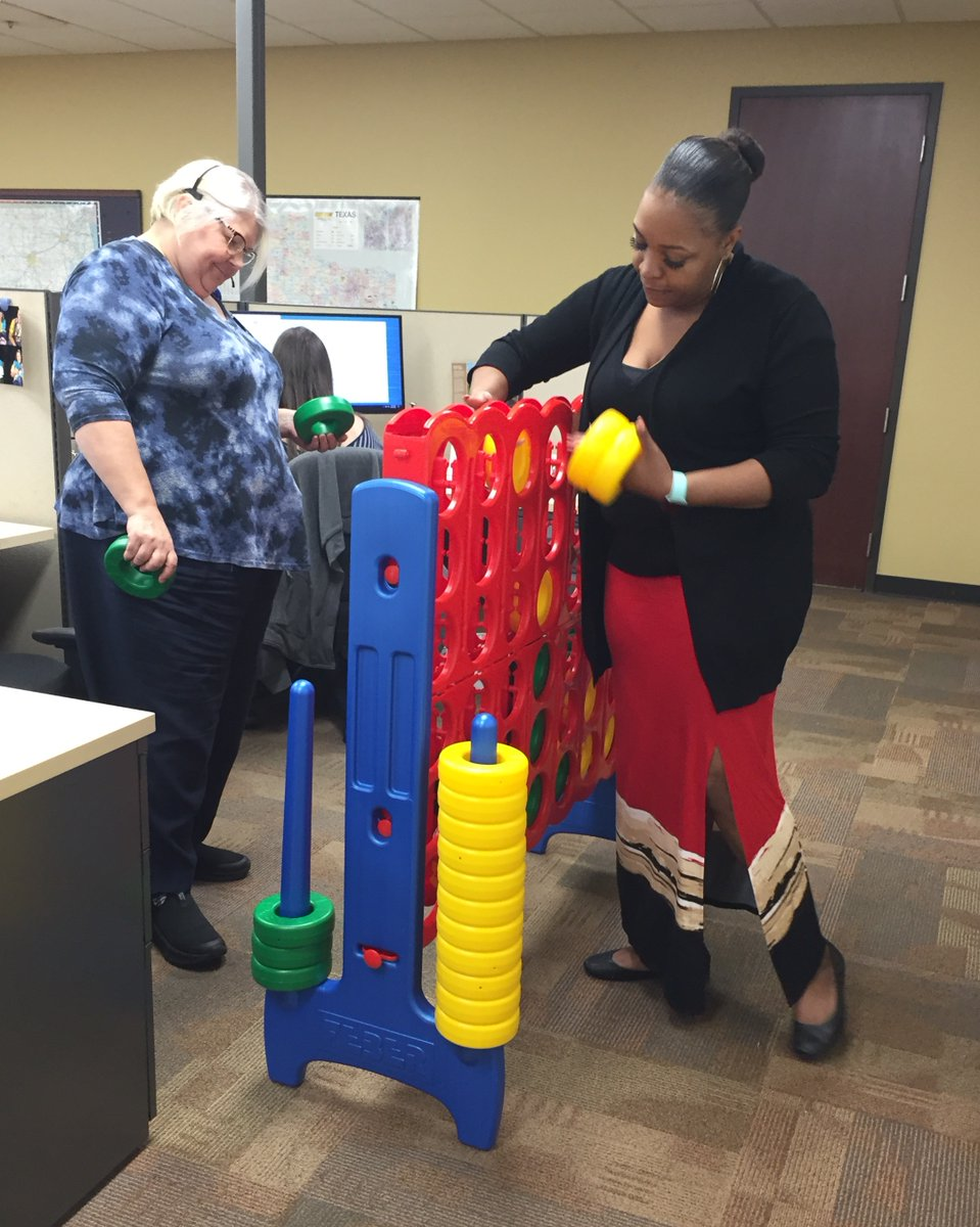 If you can't come to the Connect Four board, the Connect Four board will come to you!! RN QA Penny Howell and Scheduler Tomayia Cole competed in the #ConnectFour tournament at our Corporate office today! #theheatison #funatwork #friendlycompetition https://t.co/WfHI6UFJoe
