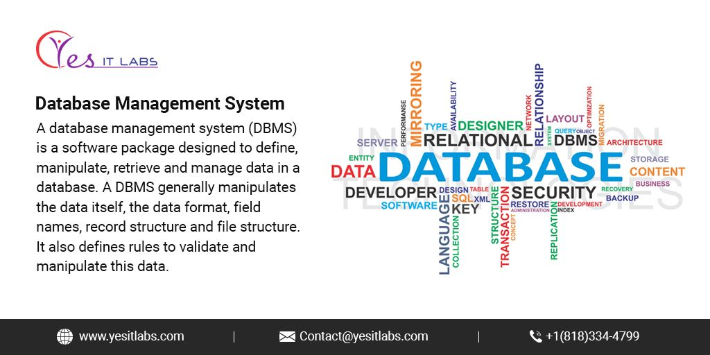 DBMS enables users to access greater amounts of data quickly so that they can improve customer experience.  #softwaredevelopment #softwaredeveloper #programmer #programming #developer #programming #coding #webdeveloper #coder #software #softwareengineer #code #computer https://t.co/FBYJfWJrZl