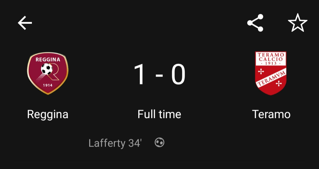 First goal for Kyle Lafferty today as he nets the winner in the Coppa Italia for Reggina. https://t.co/vylayqOml1