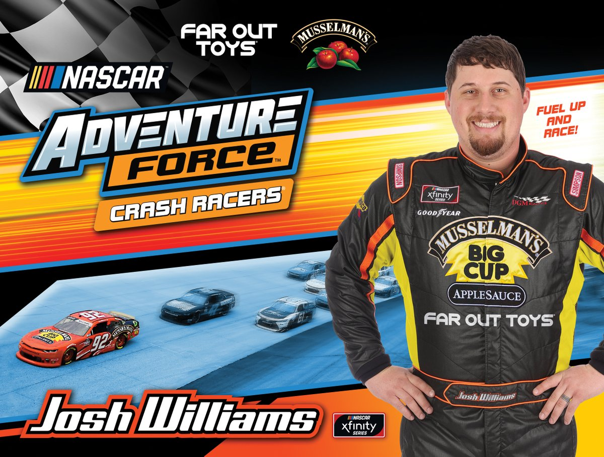 YOU COULD WIN!! Partnering with Xfinity driver Josh Williams & Far Out Toys to encourage families to FUEL UP AND RACE -good nutrition & good-for-you play! Like & Comment to enter. Winner announced Friday. @josh6williams @farouttoys #FuelUpandRace #NascarXfinitySeries