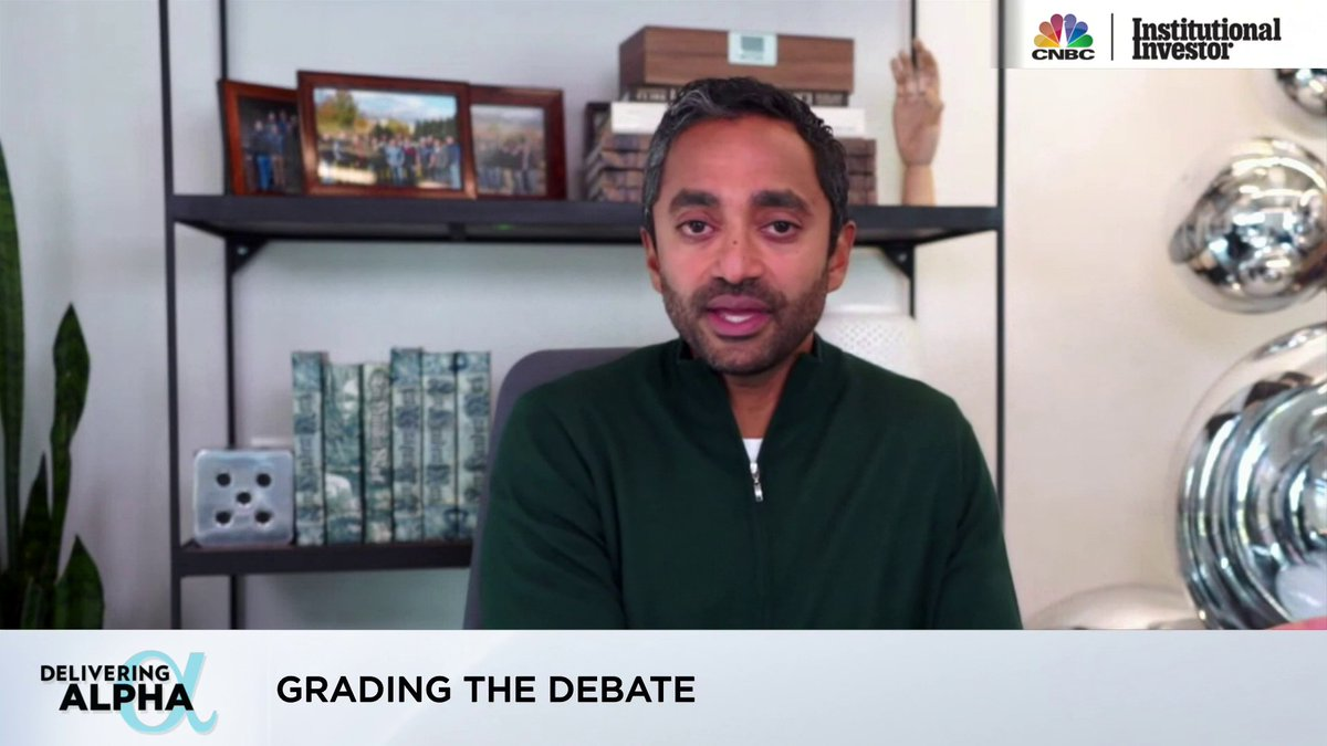 Image for the Tweet beginning: .@chamath on last night's debate: