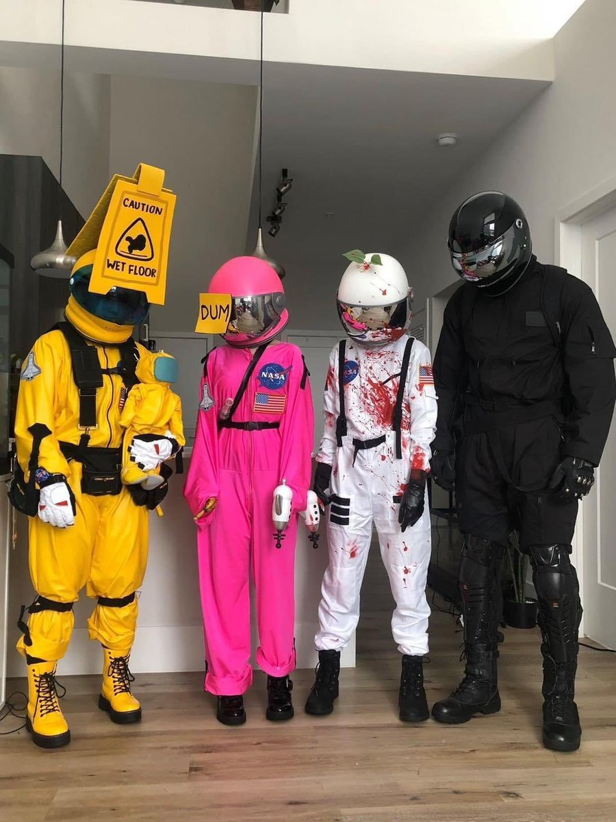 """Scott Manley on Twitter: """"Thanks to the sudden popularity of Among Us (what  took so long) lots of kids are making Space Suit costumes this year, so,  Skye asked me if I"""