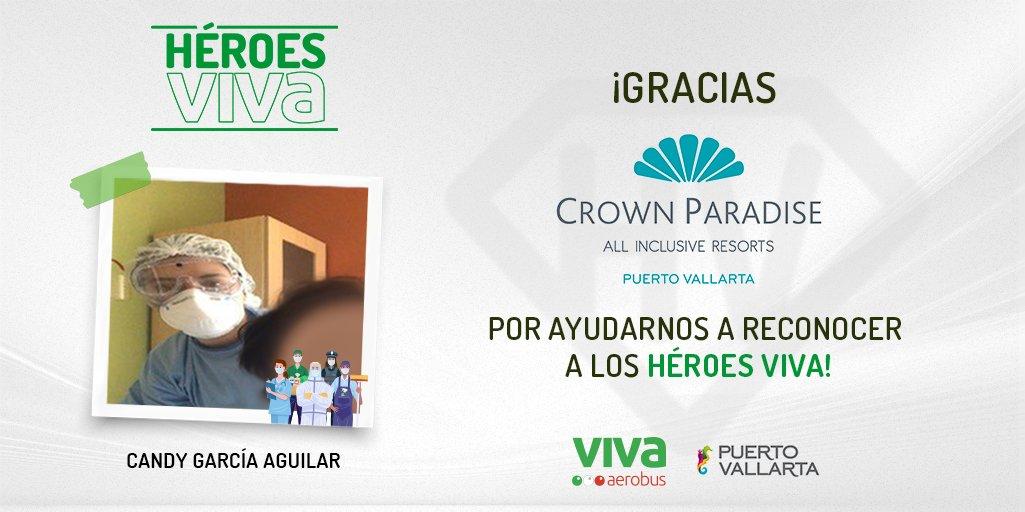 🦸🏻♀️🦸🏻♂️ En Viva reconocemos el esfuerzo de todos nuestros #HéroesViva y queremos que disfruten en @PuertoVallarta de sus merecidas vacaciones, 💚 ¡gracias a @CrownParadise por sumarse a nuestra iniciativa! Conoce más aquí. 👉 https://t.co/05dQzsJU3D #PuertoVallarta https://t.co/rSC59XEOKe