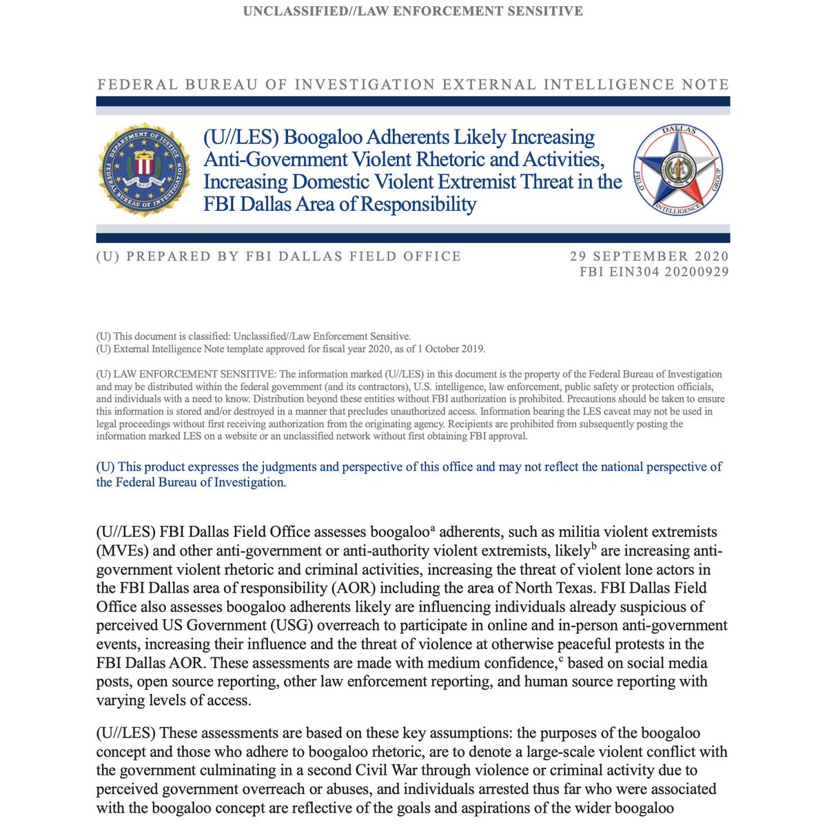Yesterday as Trump refused to condemn far-right violence, the FBI quietly issued a warning about the threat of far-right extremists, per intel report leaked to me. It identifies the period between presidential election and inauguration as a flashpoint thenation.com/article/politi…