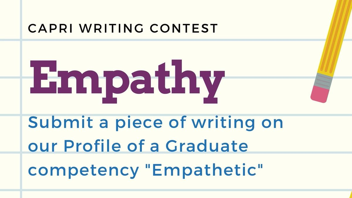 Congratulations to our winners of the Capri Writing Contest on Empathy! Thank you to all those that entered. You each should feel proud of yourselves! See our website for the winners: https://t.co/6IW66DJiDC #CapriRockstar #CUSDRockstar https://t.co/75UbyQGeXU