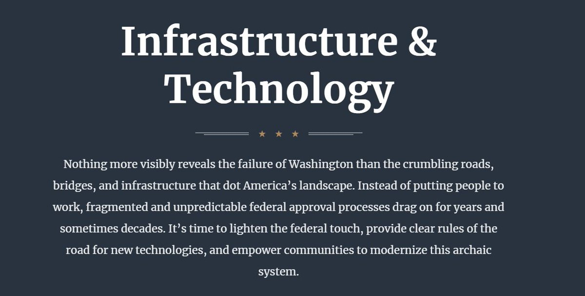 Researching why Gateway and Congestion have been held up by fed officials...and the answer was on the White Houses homepage the whole time: Instead of putting people to work, fragmented and unpredictable federal approval processes drag on for years and sometimes decades.