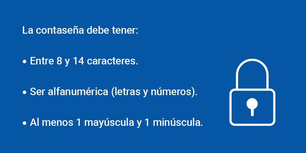 ✅ Recordá que la contaseña que elijas debe tener entre 8 y 14 caracteres, ser alfanumérica (letras y números) y contener al menos una mayúscula y una minúscula. https://t.co/GajtEsw4IF