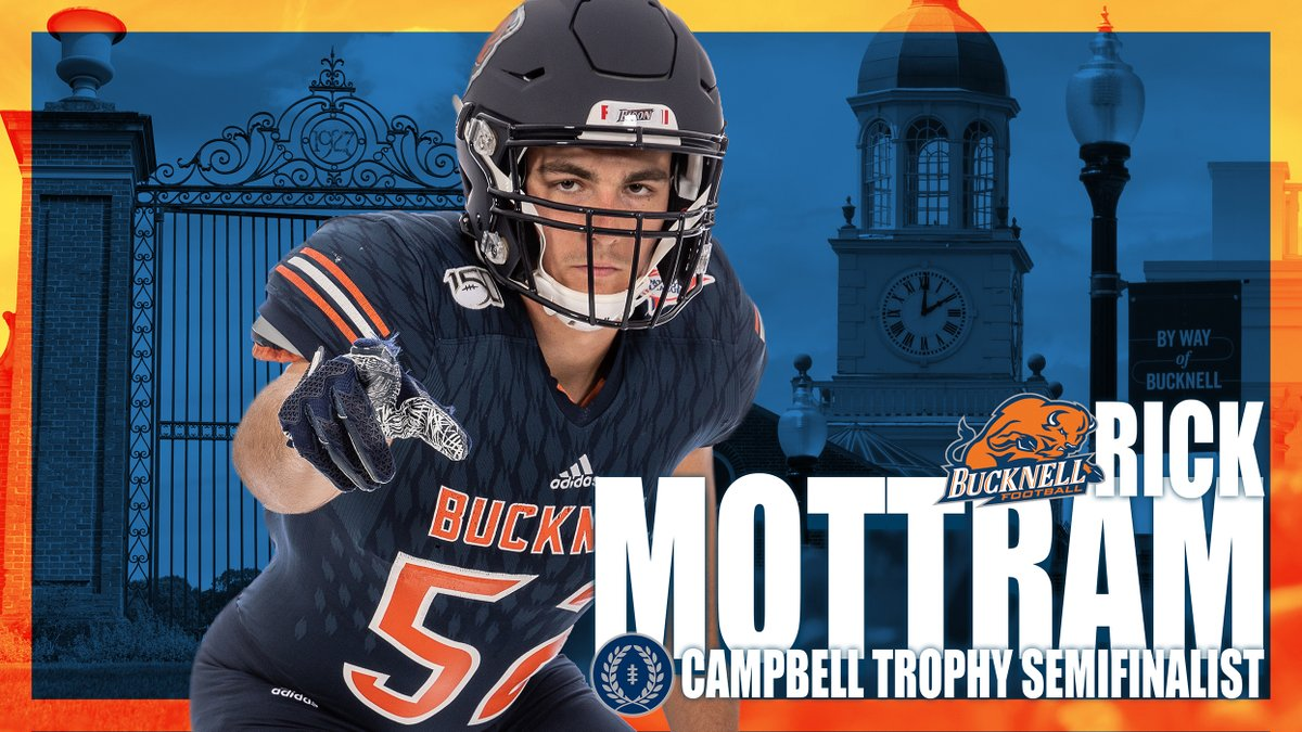Congrats to Rick Mottram, a semifinalist for the 2020 @NFFNetwork Campbell Trophy! Story: bit.ly/33gvidI | #rayBucknell