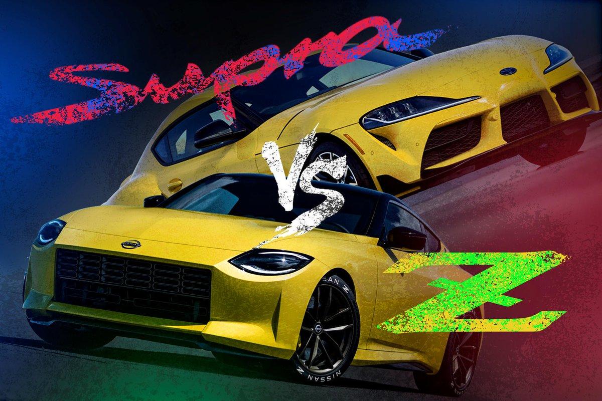 Nissan 400Z Vs. Toyota GR Supra: A Rivalry Reborn. These two finally duke it out in the 21st century. #comparison #sportscars Read: https://t.co/1qOiTbyMRt https://t.co/UT8Nb6Z0ie