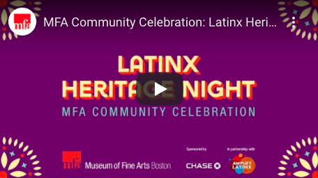 Join us tonight, 9/30 at 7pm for the annual Latinx Heritage Night in partnership with the @mfaboston and @Chase to recognize & honor the enduring cultural contributions of the Latinx community.   Watch live at: https://t.co/DG5xY5KIU4  #HispanicHeritageMonth https://t.co/xpz0RfDY0G