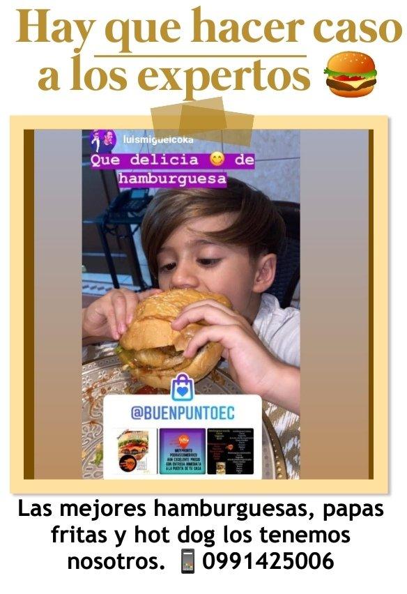 Con hambre? Te tenemos🍔 hamburguesas llenadoras, papas fritas con tocino y queso cheddar🍟, hot dogs🌭, alitas bbq🍗, bandejitas.  🛵 #viasamborondon #Gye #avleonfebrescordero #lapuntilla #islamocoli #uees   📱0991425006  @EcuProm @vendo_compro @MercadoLibreEc @TuAvisoClasifEC https://t.co/KHitQpzDPh