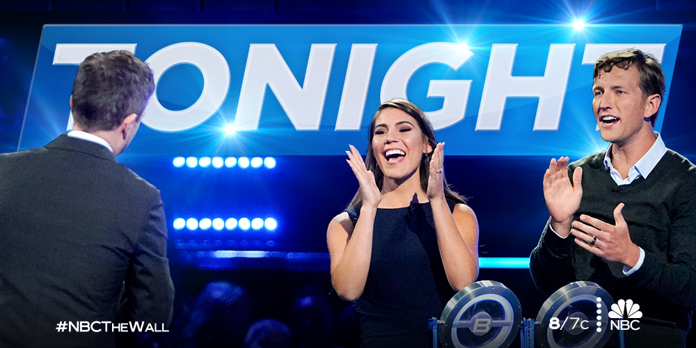 Big money! Big money! 💵 Don't miss an all-new episode of #NBCTheWall TONIGHT 8/7c on @NBC!