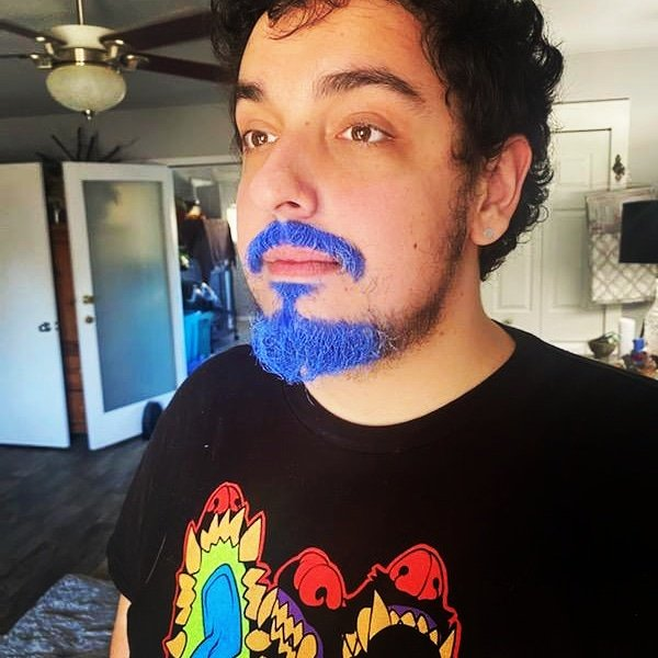 #nationalautismassociation  #StreamOn4Autism #twitch #tiltify #tiltifycampaign #StreamOn I am a man of my word, we reached past the donation goal so I added the goatee, bask in all its blue glory! Looking forward to when I stream Saturday with some #fallout76 https://t.co/3WVrOPDAhd