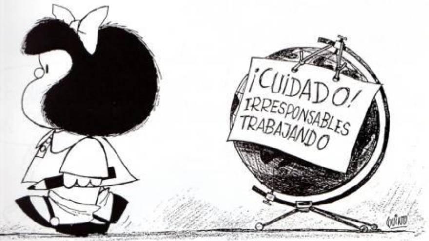 Me recuerdo chiquito, admirado por las incorrecciones políticas que en ese momento ya tenían 35 años y me mostraban otra forma de observar y denunciar a través del arte. #Quino fue, para mí, tan importante como Los Clash o Charly García. Las imágenes que no van a matar nunca.