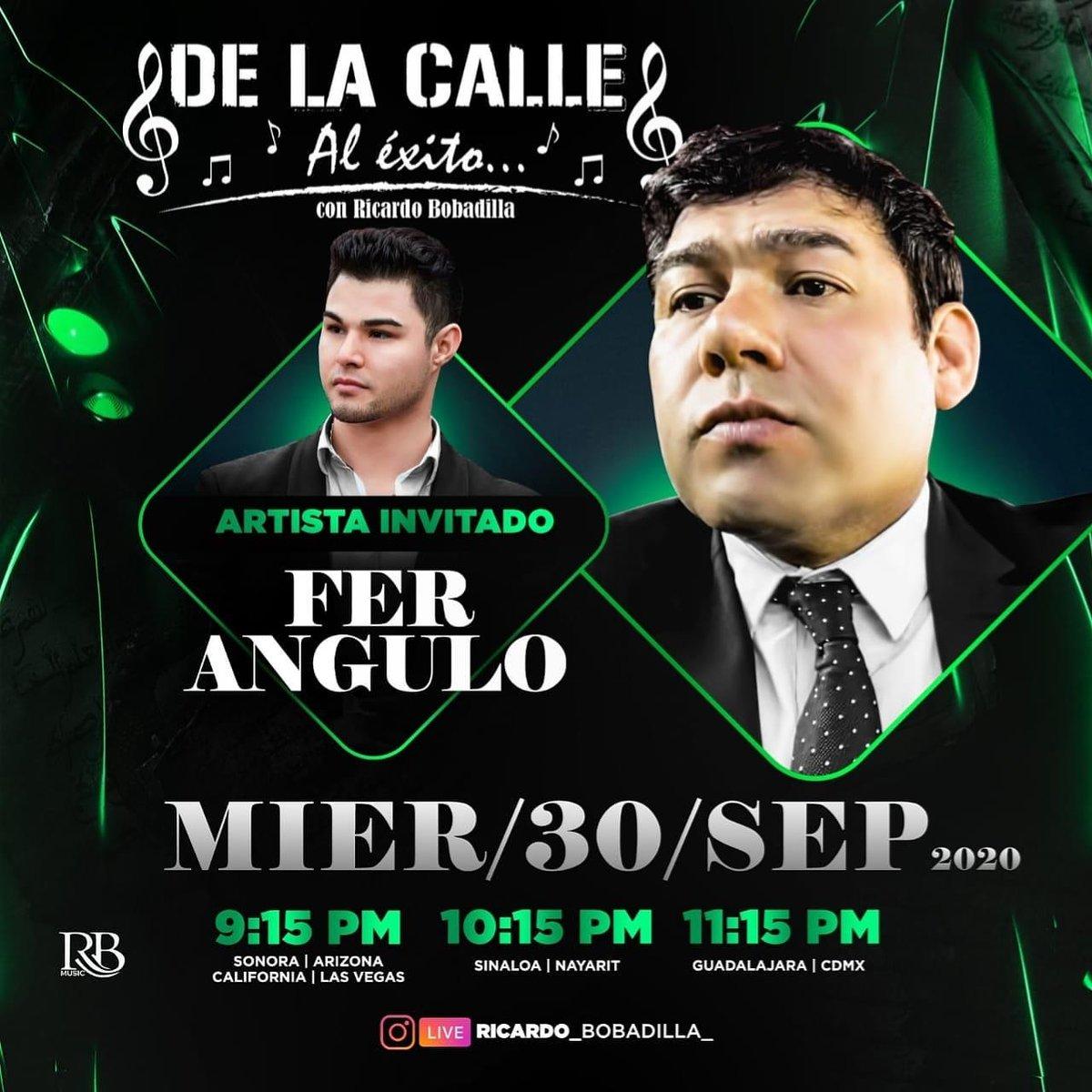 Hoy Miércoles 30 De septiembre en nuestro segmento #DeLaCalleAlExito Tendremos de invitado a @feranguloo  No se lo pueden perder por Instagram live 📲 @RioNiloMalecon 11:15 pm hora Mexico 🤩 https://t.co/kmoREZfCAY