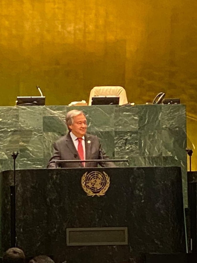 At the #UNGA75 Summit on #Biodiversity2020, it's encouraging to hear SG @antonioguterres emphasize the importance of investing in nature-based solutions & protecting our coral reefs. #Oceans are key to diversify #SIDS economies & build resilience.  @unbiodiversity #ForNature https://t.co/PrMm25hGHB