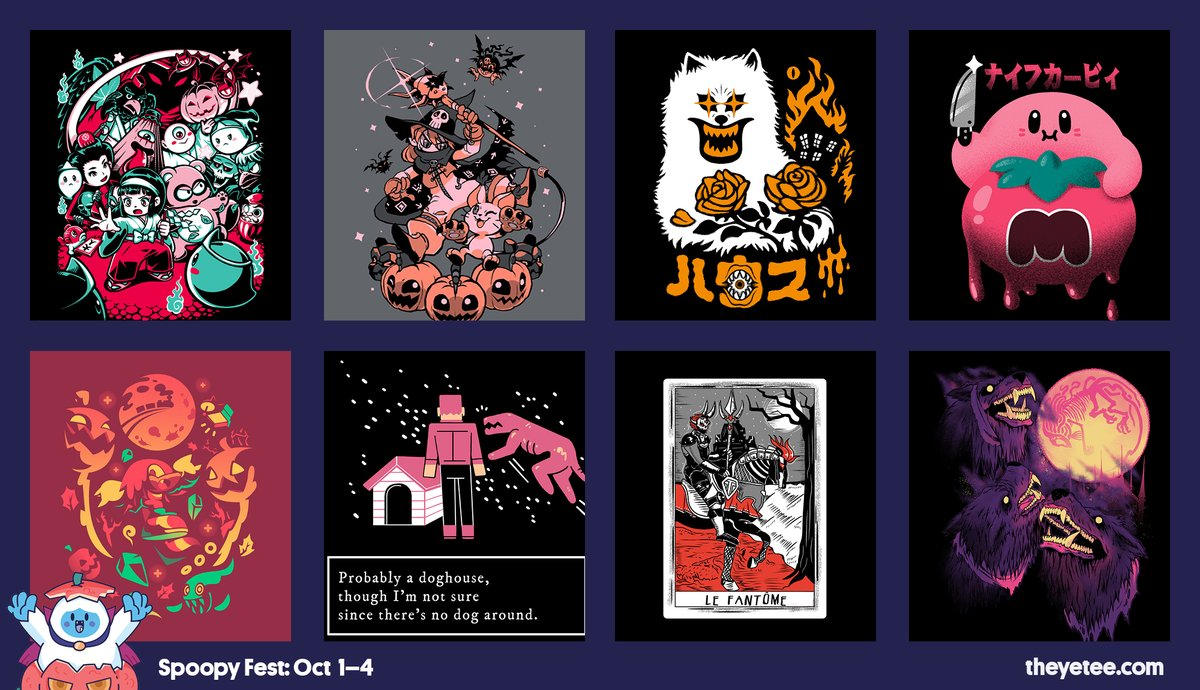 The Yetee On Twitter New Fall Is Once Again Upon Us And That Means Sweaters Zip Ups And Most Importantly Spoopyfest From Now Until Sunday At Midnight We Ve Got This Spooky Collection Got these cool celeste pins at theyetee. twitter