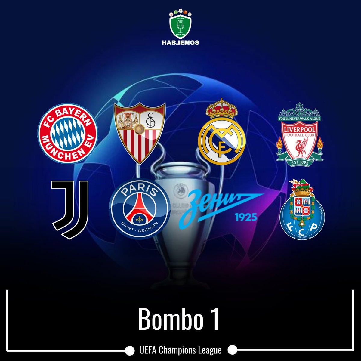 ►Bombo 1: #Bayern (🇩🇪 Campeón de la UEFA Champions League) #Sevilla (🇪🇸 campeón de la UEFA Europa League), #RealMadrid (🇪🇸), #Liverpool (🏴), #Juventus (🇮🇹), #PSG (🇫🇷), #Zenit (🇷🇺), Oporto (🇵🇹) https://t.co/rhVcIv5pzD