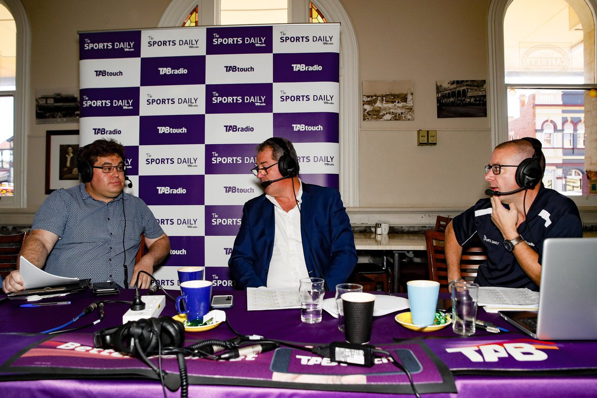 A special preview show is underway for today's Hannans Handicap meeting LIVE from The Palace Hotel in #Kalgoorlie with @KrishaneW, @DarrenMacmedia and Digby Beacham...  🎙 LISTEN LIVE ON THE @TAB_touch APP 🎙  #TheSportsDaily #TheRacesWA @TAB_touch   📸: @_HamiltonCC https://t.co/khqw4a3iv8