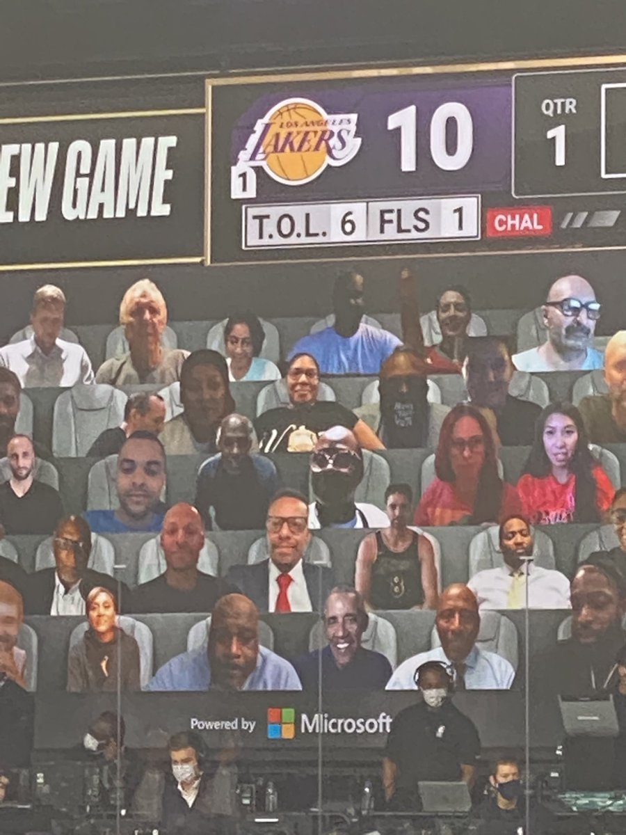 Former President Barack Obama is part of virtual fans for Game 1 of NBA Finals. https://t.co/LU2S0XpfFF