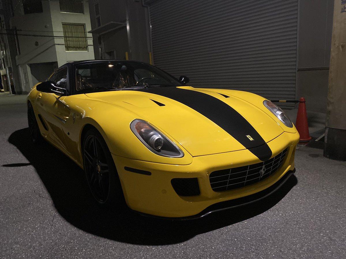 これから納車整備に入ります😎 なかなか珍しい車で エンジンはV12👍 #Ferrari #Ferrari599 #輸入車 https://t.co/OKouJBheZD