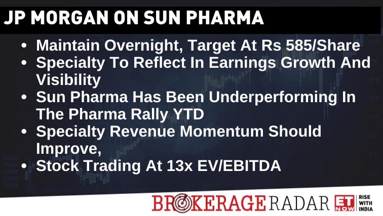 Brokerageradar Jpmorgan On Sun Pharma