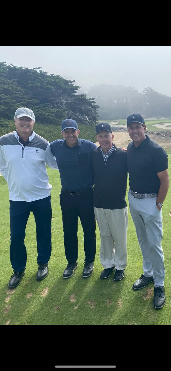 Special day with my dad and brother at Cypress and our host John Watson. Tried to drive the 362 yard 17th. Didn't make it but it was only my first day of speed training for the Masters.