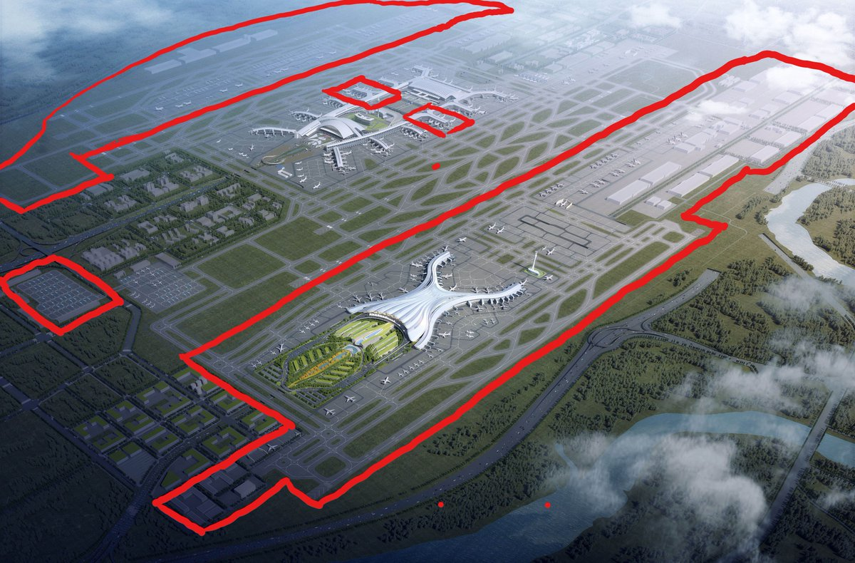 After the 2 mega-airports in #China, let us bring you up to speed with the largest airport expansion project in China's aviation history, the Guangzhou Baiyun International Airport (CAN) 3rd stage expansion. Everything inside the red boxes is part of this expansion. #avgeek https://t.co/JgQB0YhJKl