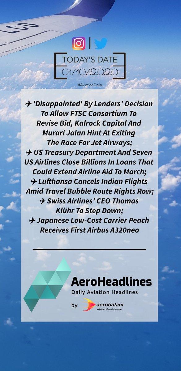 HEADLINES   01/10/2020 #AeroHeadlines #AvGeek #AvNews https://t.co/Vz4Witya0u