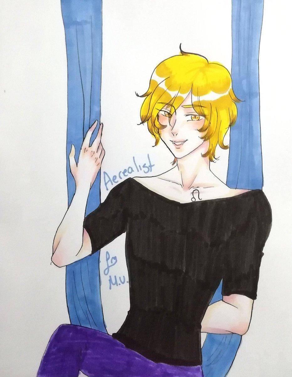 30. Aerealist  Leo, precioso~🥺🥺❤️✨💕💙  #sextember #sextember2020 #sextemberlist #confeetylist2020 #original #oc #animestyleart #animeboy #zodiaccharacter #zodiac #leo https://t.co/dpqX5uaTVs