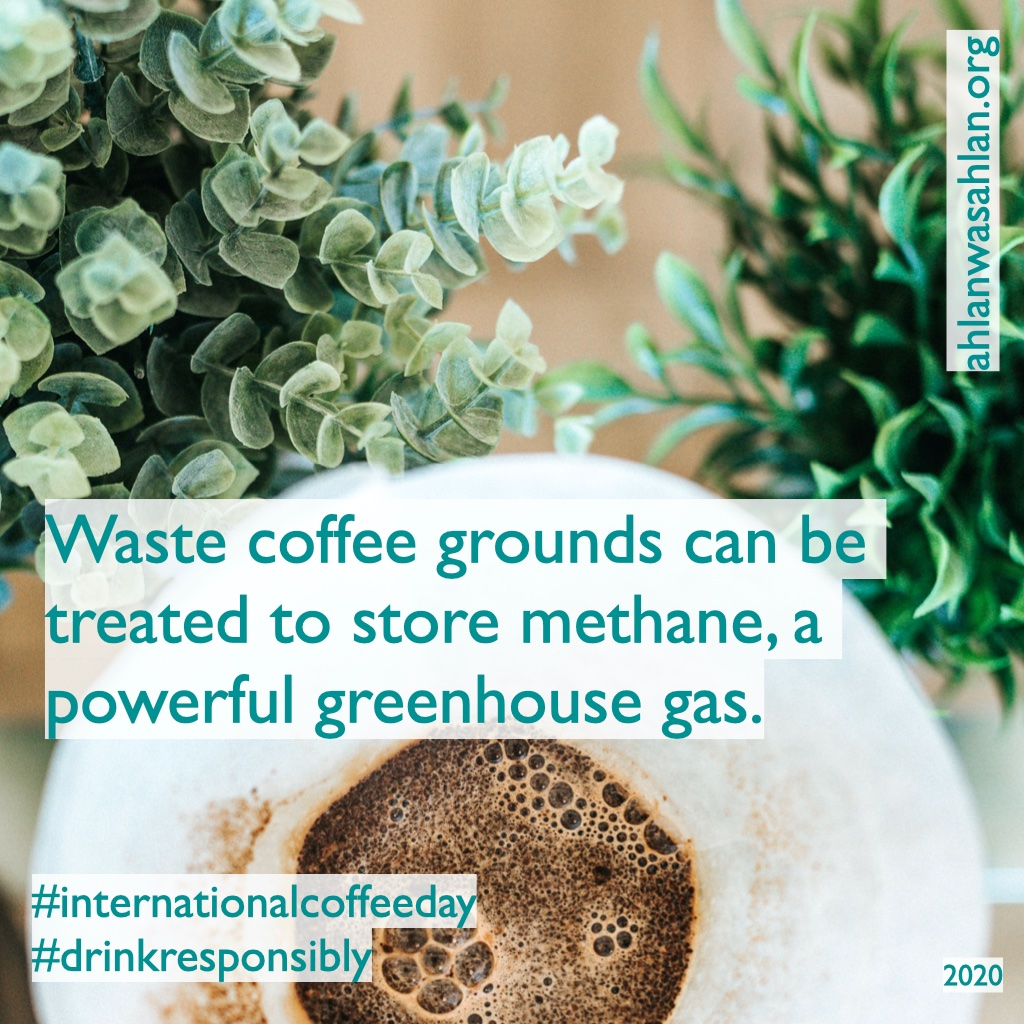 On a positive note: Waste coffee grounds can be treated to store methane, a powerful greenhouse gas, according to a study published in the journal of Nanotechnology 2015. Good morning! https://t.co/gpJ2ftkc3V #internationalcoffeeday #drinkresponsibly #climateaction #youth4climate https://t.co/RqgIrLrM14