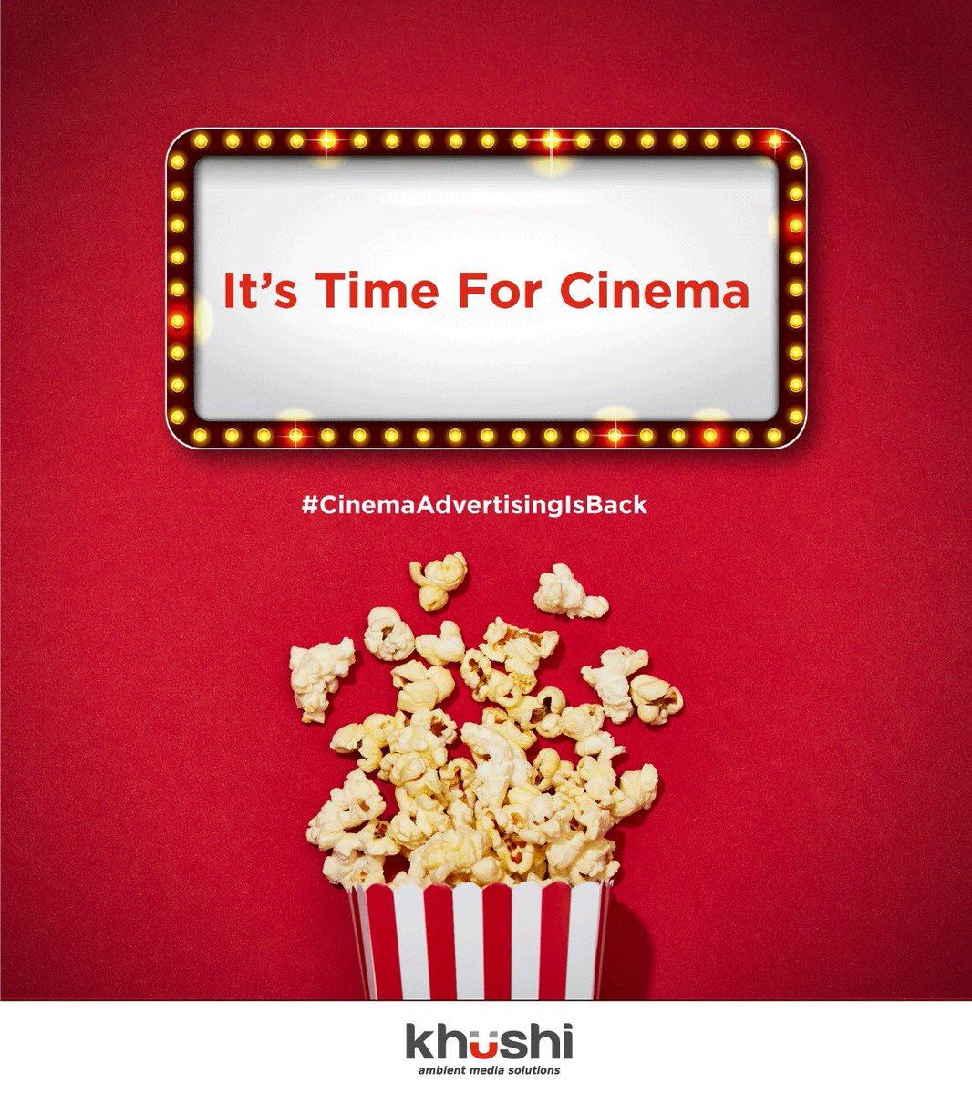 #KhushiAdvertising #Khushi #CinemaAdvertising #Branding #Marketing #Cinema #MovieTime #CinemaAdvertisingIsBack https://t.co/pqW0Q76drv
