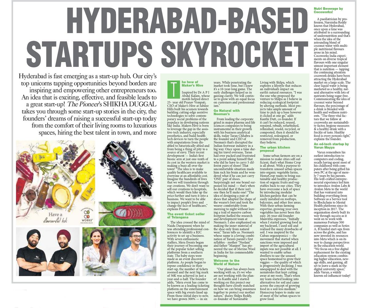 #Hyderabad based #startuplife skyrocket! Hyderabad is fast emerging as a #startup hub. Our city's top unicorns tapping opportunities beyond borders are inspiring & empowering other #Entrepreneurs too. @ShikhaDuggal07 takes you through some startups stories in the city. https://t.co/YHmvhWbzUv