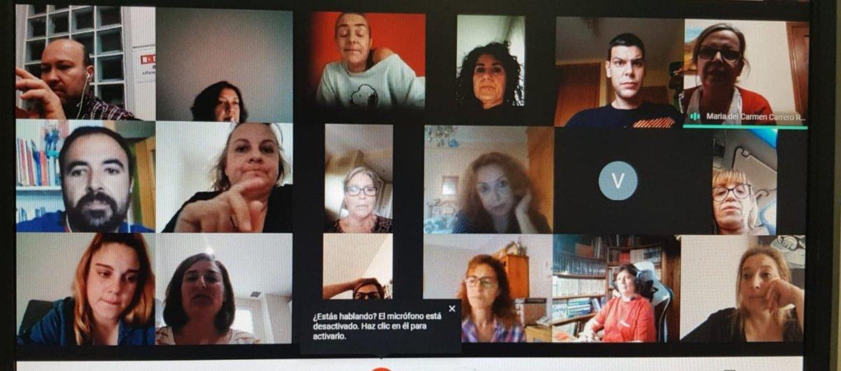 Delegadxs de Mediterránea Catering en #CastillaLaMancha organizando la acción sindical  🍴Los #comedoresescolares y las cafeterías de hospitales son #esenciales  👀La seguridad y salud de trabajadoras; no sobrecargando las tareas, imprescindible   #InvisiblesPeroImprescindibles https://t.co/KEwYwBStBy