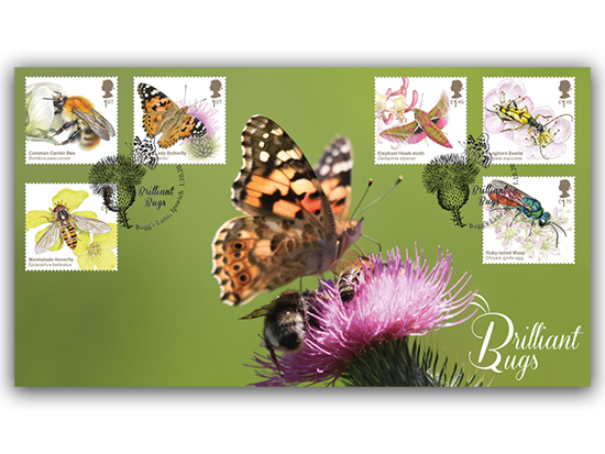 *NEW* Brilliant Bugs first day cover *OUT TODAY* 🐝 #bugs #insects #entomology - https://t.co/zK82WS4AO3 https://t.co/1bOmUbxpZO