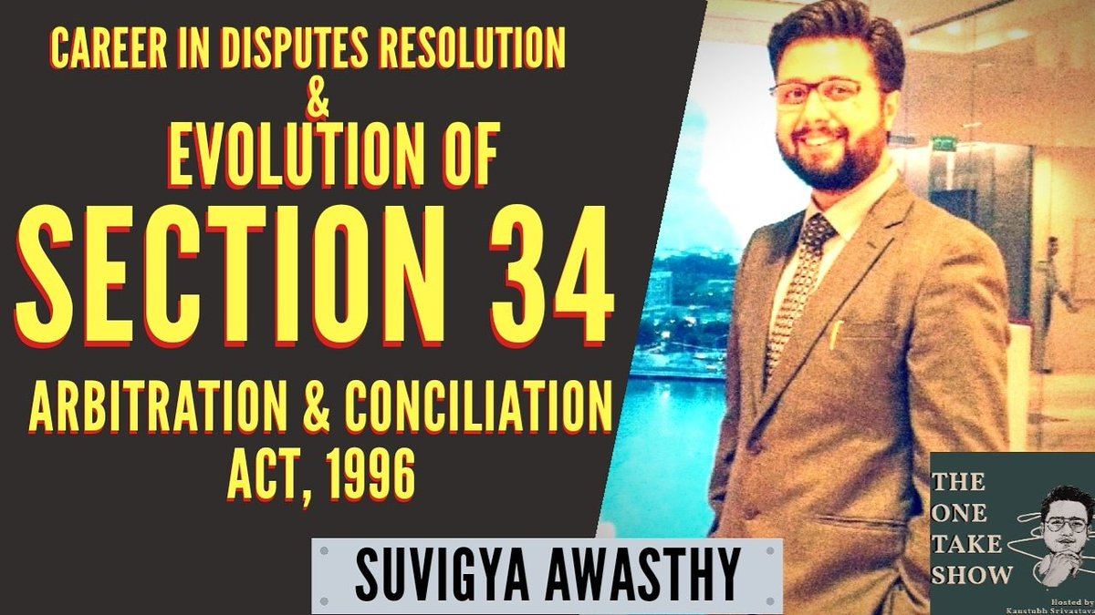 An incredible conversation with Mr. Suvigya Awasthy, Associate Partner, PSL Advocates and Solicitors.  YouTube: https://t.co/oHf0dnvAdH #arbitration #law #legal #lawyer https://t.co/LWRrWJsoCL