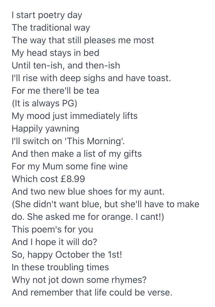 It is #nationalpoetryday2020 so I wrote you this...