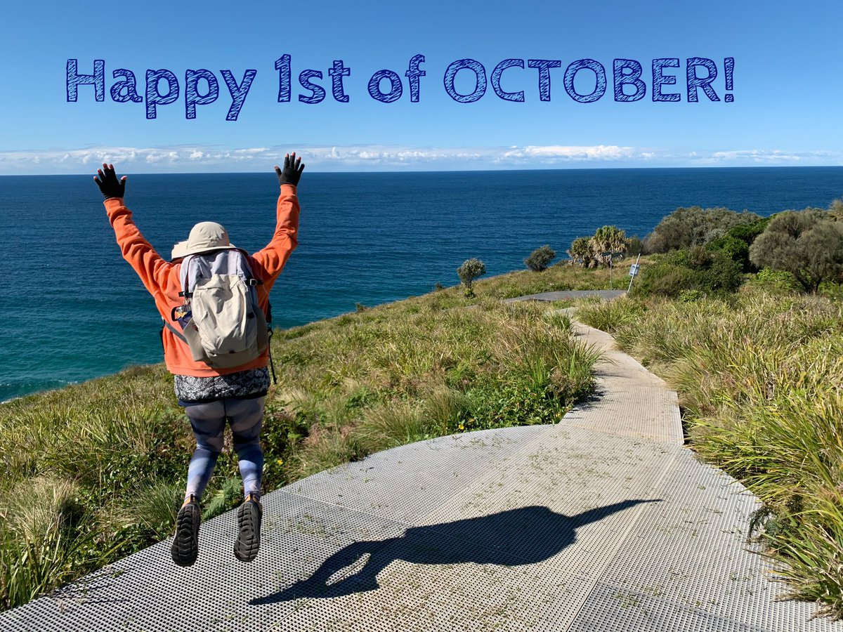 'Pinch and a punch for the first day of the month' #firsdayofthemonth. #October1st , kawaykaway, i am jumping at Royal National Park walking on the bushes, beach sand, big rocks, up and down going to #Figure8pools #staysave https://t.co/yBybgNscvK