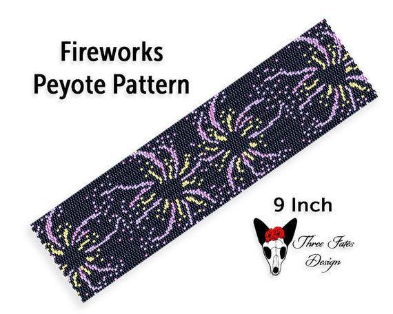Fireworks Peyote Bracelet Pattern Two Drop Even Count Seed | Etsy https://t.co/EmowucLWpO  #fireworks #beading #bracelet #pattern #etsystore #threefatesdesign https://t.co/NUrVKBPGdr
