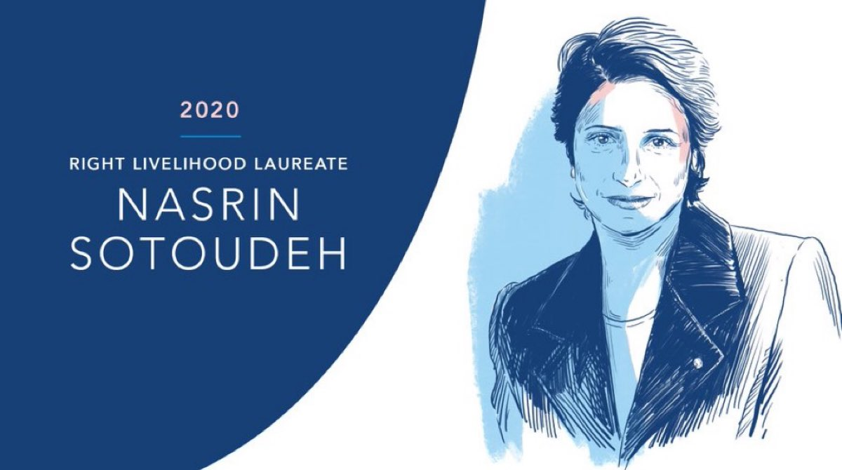 The Alternative Nobel Prize for Nasrin #Sotoudeh is the right decision. She is fighting for justice in Iran. She speaks up for those who have lost their voice because of the regime. I demand her immediate release and the possibility for her to leave to Germany.