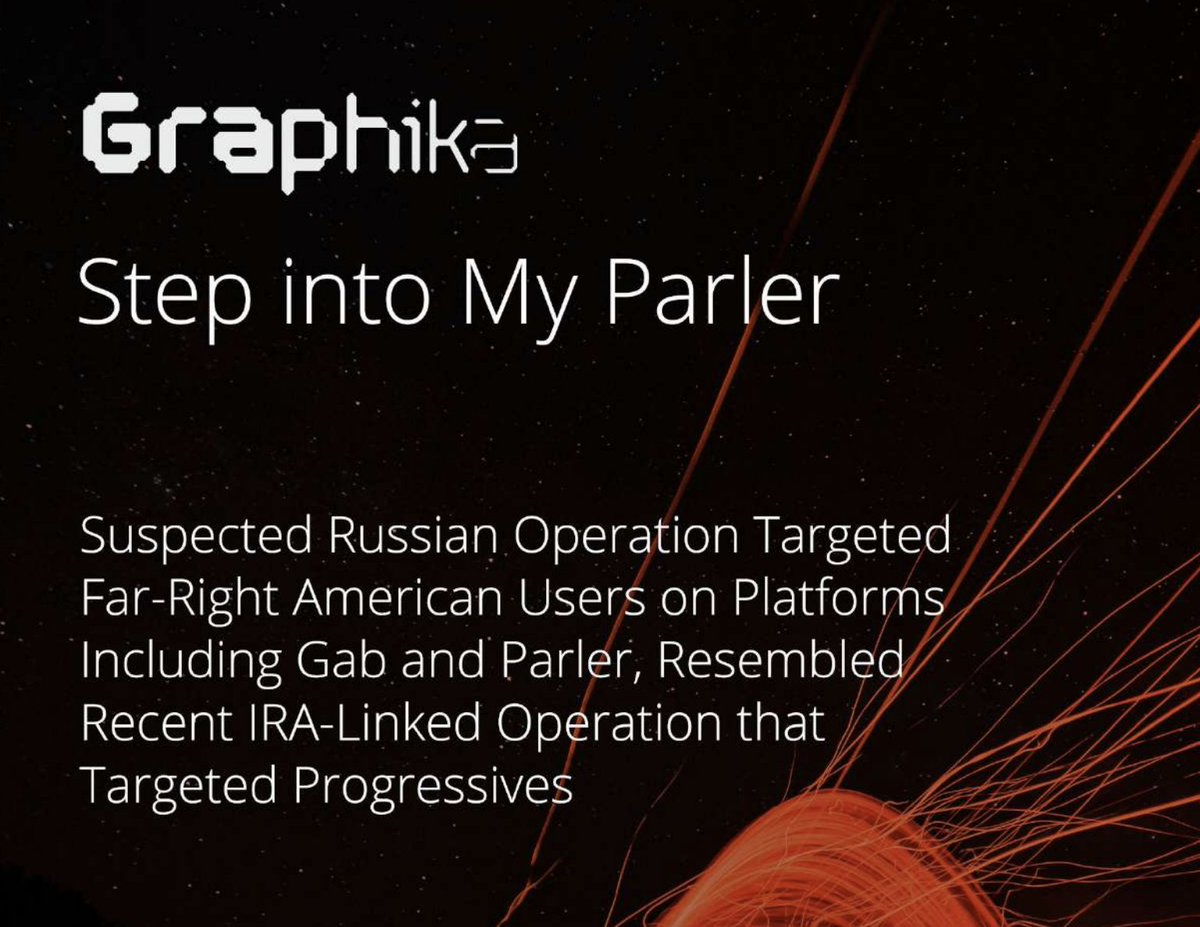 NEW: A Russian operation posed as a far-right website to target U.S. divisions and the election. Most active on Gab and Parler. A few months old. Looks related to the IRA-linked PeaceData (which targeted progressives). @Graphika_NYC report: public-assets.graphika.com/reports/graphi…