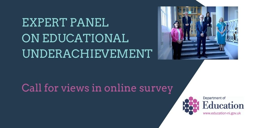 The Expert Panel on Educational Underachievement wants your views and evidence on the links between educational underachievement and social disadvantage.  Access the survey here https://t.co/B7tJYJjOyo https://t.co/JOpUlmO4xG