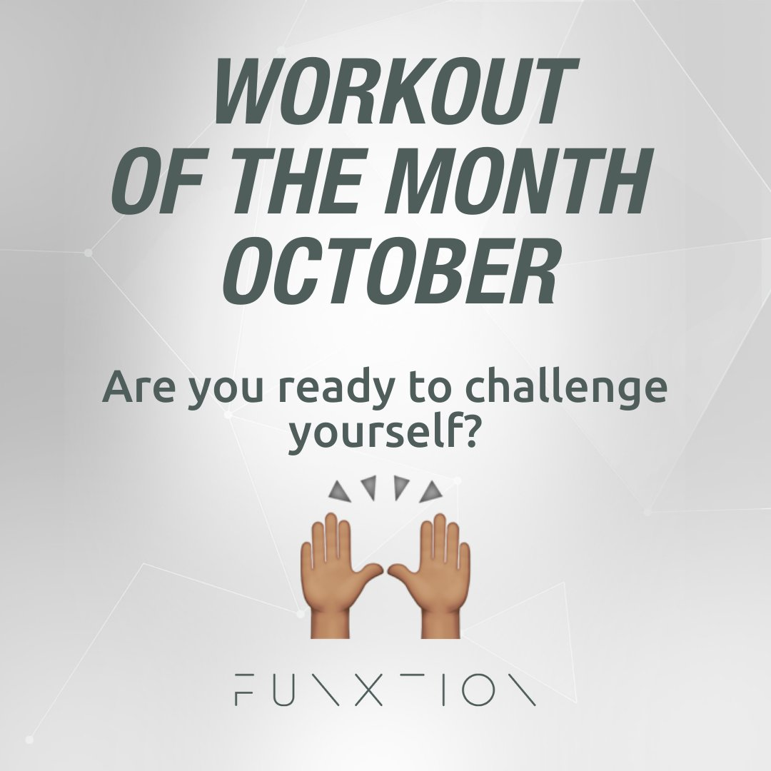 🏋️Workout of the Month October🏋️  The workouts will be posted one by one, so you can do them all and challenge your friends💪 ⠀ #funxtion #interactivedigitalfitness #stayhealthy #funxtionaltraining #staysave #workout #workoutmotivation #workoutofthemonth #workoutto #fitness https://t.co/6vW5OaDbej