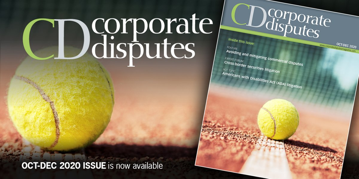 In our Oct-Dec issue we examine a number of hot topics, including cross-border securities litigation, US civil discovery requests, UK class action reform, avoiding product recalls, the impact of #COVID19 on #arbitration and much more. Read it free here: https://t.co/TedA9ejleU https://t.co/6IIuc06eBF
