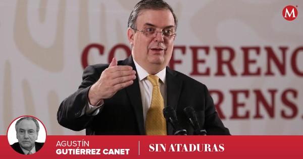 #SinAtaduras | Marcelo Ebrard se enredó con el nombramiento ilegal de Luz Elena Baños como embajadora eminente, lee y escucha 🎙 la columna de @AGutierrezCanet https://t.co/PpKsa8xmms https://t.co/L7Ehqx19GS