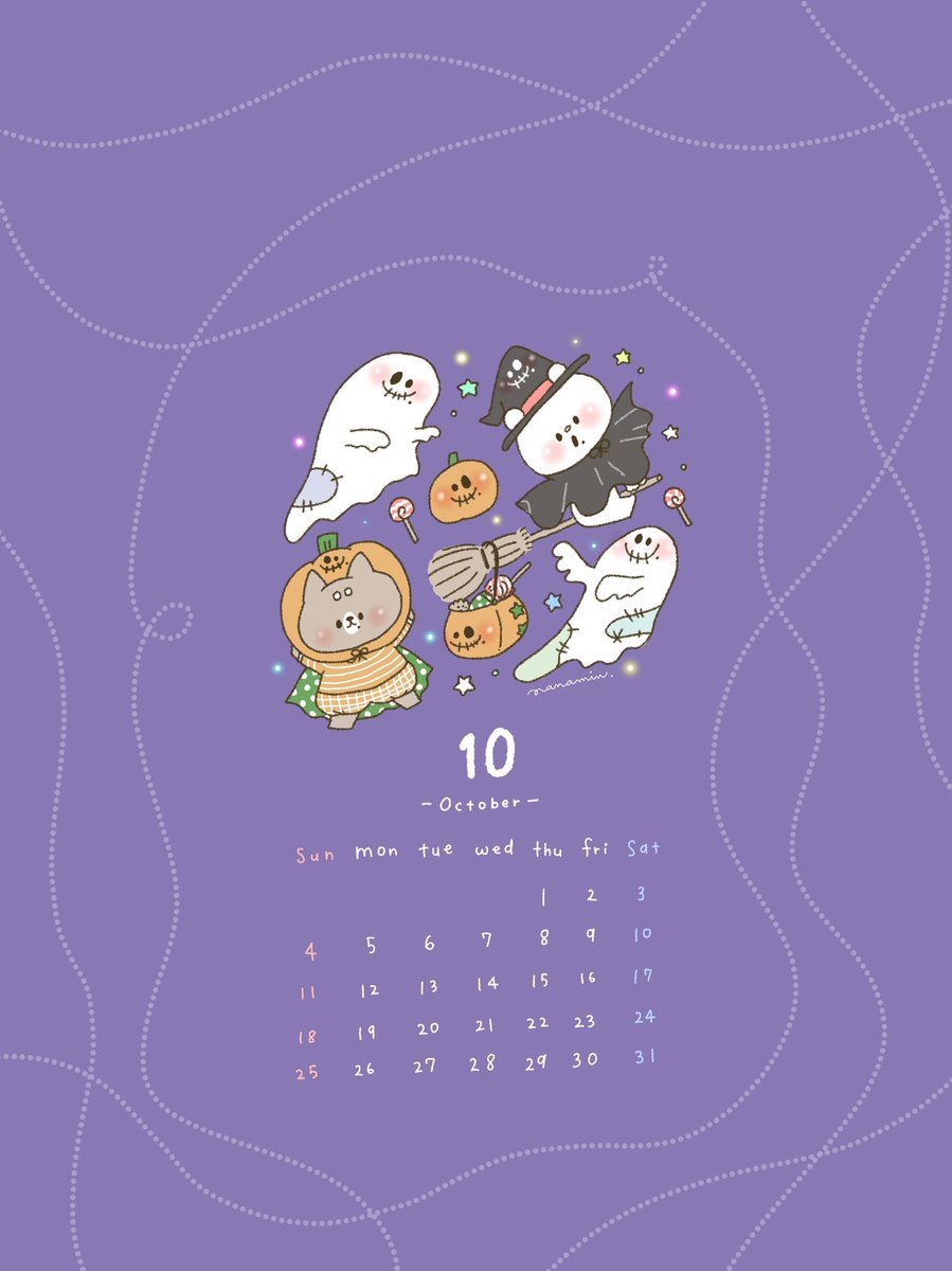 ?使用の際は反応ください?  10月のカレンダー配布!しろくまななみんとおしばさま、ハロウィンをエンジョイしてるね〜!  使用の際はいいねかリプかRTなどもらえると嬉しいです!よろしくお願いします??  ◉メイキングはこちら : https://t.co/xHuaSFh0va