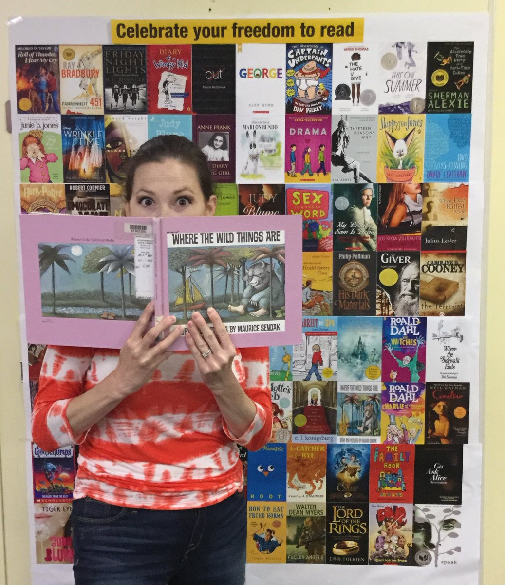 Coming up on the end of Banned Books Week, here's a throwback to last years banned books wall photo booth. At Jefferson we encourage you to read anything you're interested in! <a target='_blank' href='http://twitter.com/KeishaBoggan'>@KeishaBoggan</a> <a target='_blank' href='http://twitter.com/mslarsontjms'>@mslarsontjms</a> <a target='_blank' href='http://twitter.com/MrsD_reading'>@MrsD_reading</a> <a target='_blank' href='http://twitter.com/DJordanAPS'>@DJordanAPS</a> <a target='_blank' href='http://twitter.com/APSLibrarians'>@APSLibrarians</a> <a target='_blank' href='http://search.twitter.com/search?q=jeffersonreads'><a target='_blank' href='https://twitter.com/hashtag/jeffersonreads?src=hash'>#jeffersonreads</a></a> <a target='_blank' href='http://twitter.com/JeffersonIBMYP'>@JeffersonIBMYP</a> <a target='_blank' href='https://t.co/Vp7GOQsBWm'>https://t.co/Vp7GOQsBWm</a>